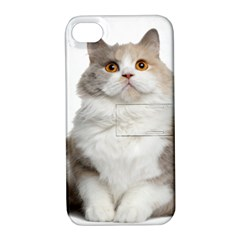 Cutefat Cat  Apple Iphone 4/4s Hardshell Case With Stand