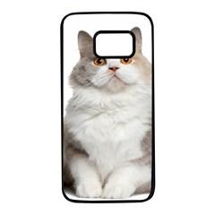 Cutefat Cat  Samsung Galaxy S7 Black Seamless Case