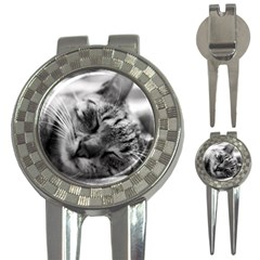 Adorable Animal Baby Cat 3 In 1 Golf Divots