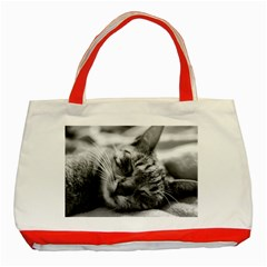 Adorable Animal Baby Cat Classic Tote Bag (red) by goodart