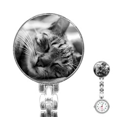 Adorable Animal Baby Cat Stainless Steel Nurses Watch
