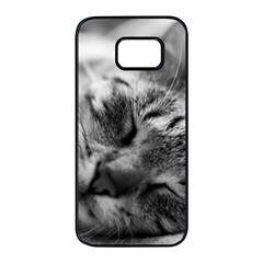 Adorable Animal Baby Cat Samsung Galaxy S7 Edge Black Seamless Case