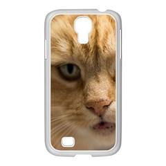 Animal Pet Cute Close Up View Samsung Galaxy S4 I9500/ I9505 Case (white)