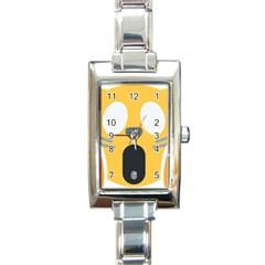 Cat Emoji  Rectangle Italian Charm Watch