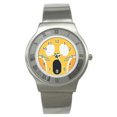 Cat Emoji  Stainless Steel Watch