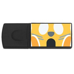Cat Emoji  Rectangular Usb Flash Drive