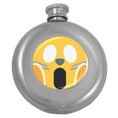 Cat Emoji  Round Hip Flask (5 Oz) by goodart