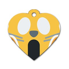 Cat Emoji  Dog Tag Heart (two Sides)