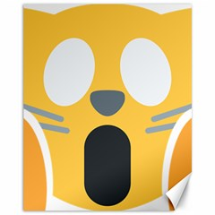 Cat Emoji  Canvas 11  X 14