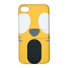 Cat Emoji  Apple Iphone 4/4s Hardshell Case With Stand