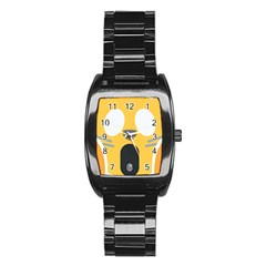 Cat Emoji  Stainless Steel Barrel Watch