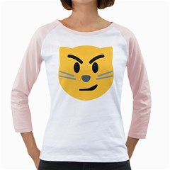 Cat Emoji Girly Raglans