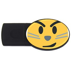Cat Emoji Usb Flash Drive Oval (2 Gb)