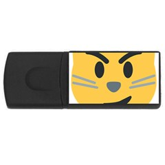 Cat Emoji Rectangular Usb Flash Drive