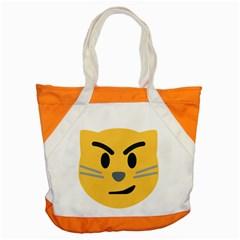 Cat Emoji Accent Tote Bag