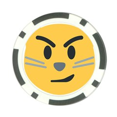 Cat Emoji Poker Chip Card Guard by goodart