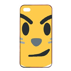 Cat Emoji Apple Iphone 4/4s Seamless Case (black)