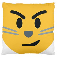 Cat Emoji Large Cushion Case (one Side)