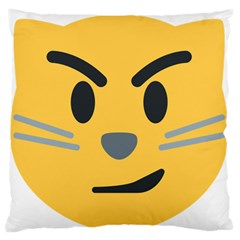 Cat Emoji Large Flano Cushion Case (two Sides)