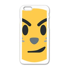 Cat Emoji Apple Iphone 6/6s White Enamel Case