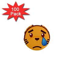 Cat Emoji Sad  1  Mini Magnets (100 Pack)