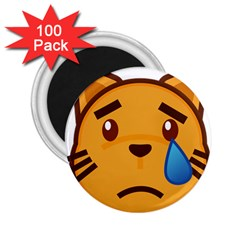 Cat Emoji Sad  2 25  Magnets (100 Pack)