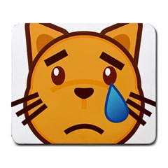 Cat Emoji Sad  Large Mousepads