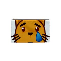 Cat Emoji Sad  Cosmetic Bag (small)
