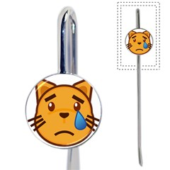 Cat Emoji Sad  Book Mark