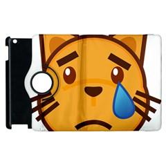 Cat Emoji Sad  Apple Ipad 3/4 Flip 360 Case