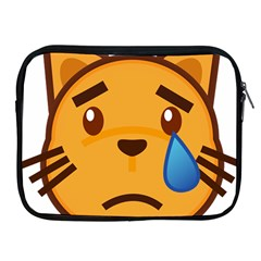 Cat Emoji Sad  Apple Ipad 2/3/4 Zipper Cases