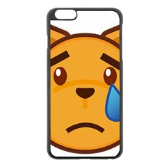 Cat Emoji Sad  Apple Iphone 6 Plus/6s Plus Black Enamel Case