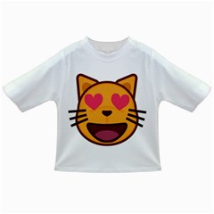 Smiling Cat Face With Heart Shape Infant/toddler T Shirts