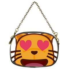 Smiling Cat Face With Heart Shape Chain Purses (two Sides)