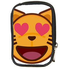 Smiling Cat Face With Heart Shape Compact Camera Cases