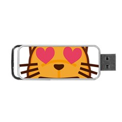 Smiling Cat Face With Heart Shape Portable Usb Flash (two Sides)