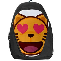 Smiling Cat Face With Heart Shape Backpack Bag