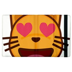 Smiling Cat Face With Heart Shape Apple Ipad 2 Flip Case