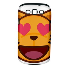 Smiling Cat Face With Heart Shape Samsung Galaxy S Iii Classic Hardshell Case (pc+silicone)