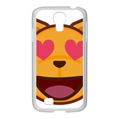 Smiling Cat Face With Heart Shape Samsung Galaxy S4 I9500/ I9505 Case (white)