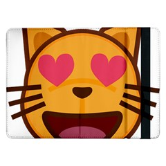 Smiling Cat Face With Heart Shape Samsung Galaxy Tab Pro 12 2  Flip Case