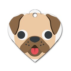 Dog Emojione Dog Tag Heart (one Side)