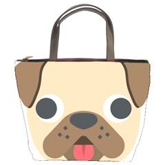 Dog Emojione Bucket Bags