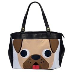 Dog Emojione Office Handbags