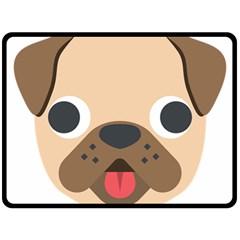 Dog Emojione Fleece Blanket (large)
