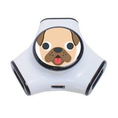 Dog Emojione 3 Port Usb Hub