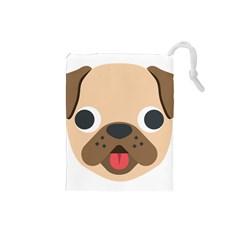 Dog Emojione Drawstring Pouches (small)