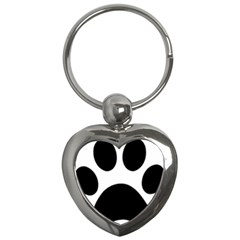 Paw Foot Print Key Chains (heart)