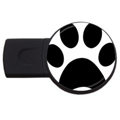 Paw Foot Print Usb Flash Drive Round (4 Gb)