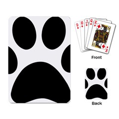 Paw Foot Print Playing Card